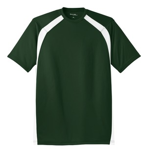 NEW MENS XS 4XL SPORT TEK DRYZONE COLORBLOCK CREW SHIRT