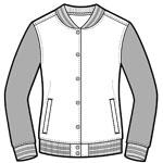 greek sorority varsity jacket letters pledge class rush front