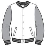 greek varsity jacket baseball fraternity sorority front
